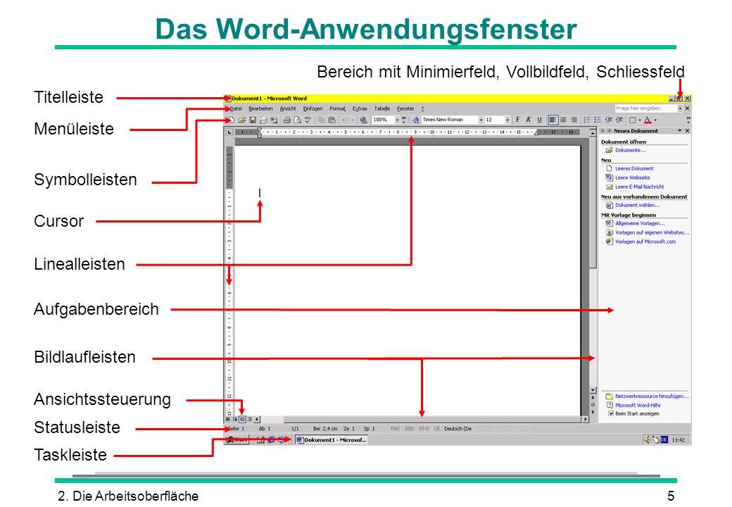 Das Word-Anwendungsfenster