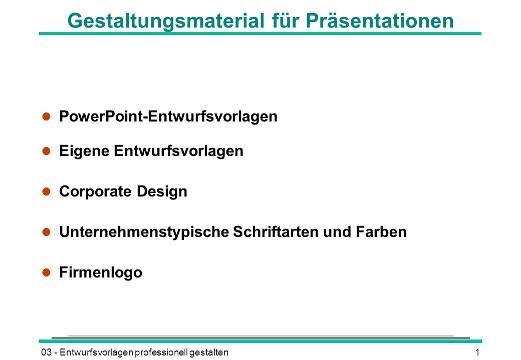 Gestaltungsmaterial für Präsentationen