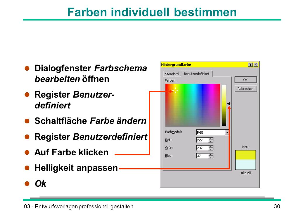 Farben individuell bestimmen