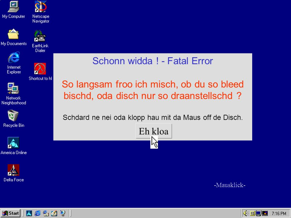 Schonn widda ! - Fatal Error