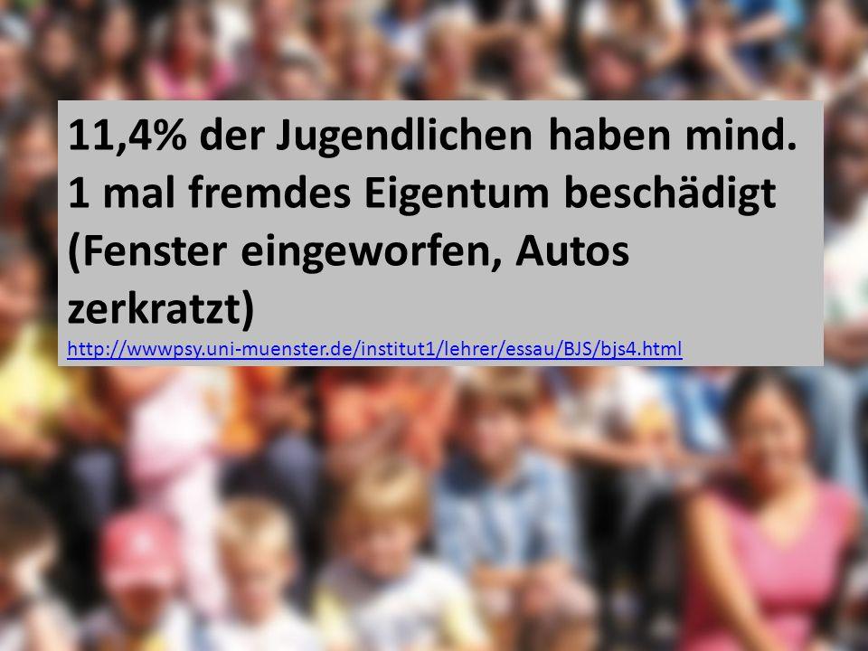11,4% der Jugendlichen haben mind