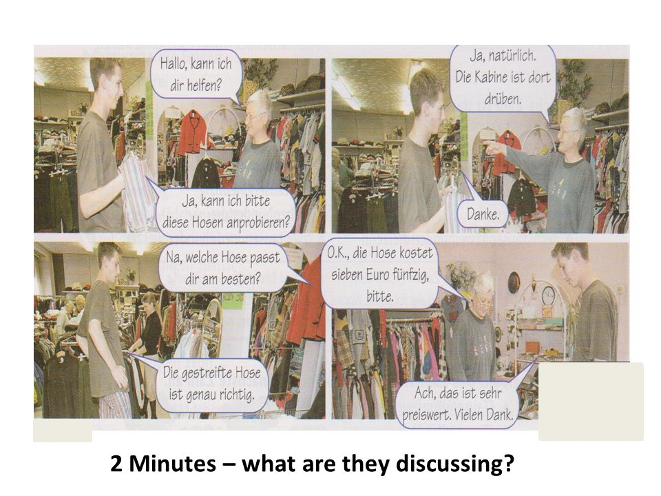 2 Minutes – what are they discussing