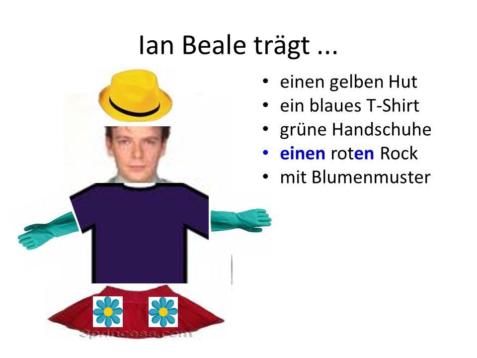 Ian Beale trägt ... einen gelben Hut ein blaues T-Shirt
