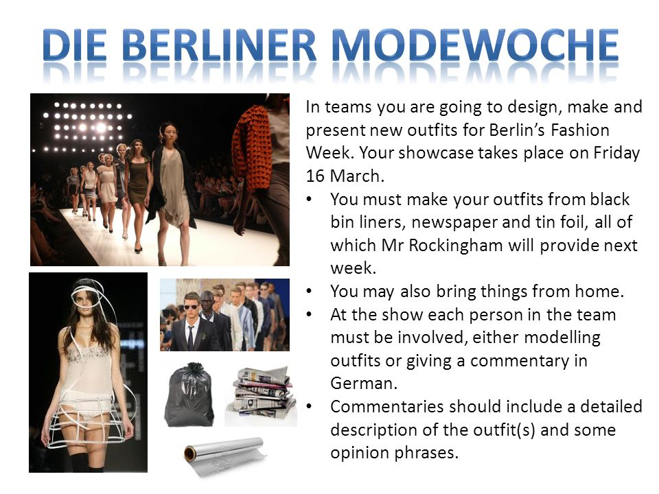 Die Berliner Modewoche