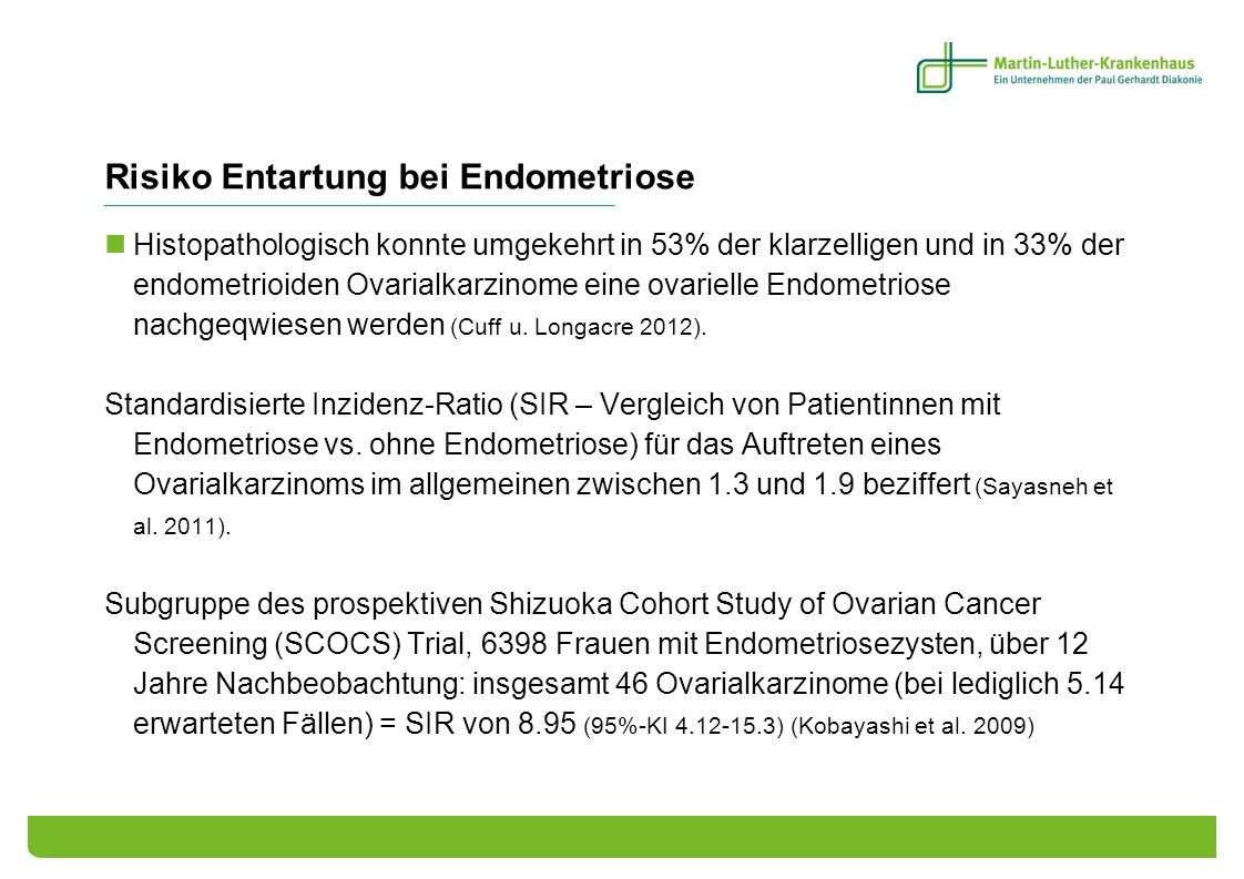 Risiko Entartung bei Endometriose