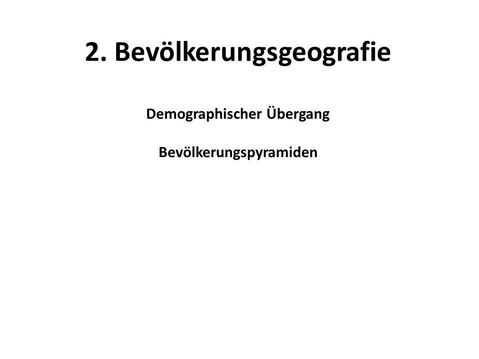 2. Bevölkerungsgeografie Demographischer Übergang Bevölkerungspyramiden