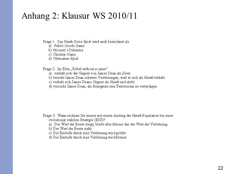 Anhang 2: Klausur WS 2010/11