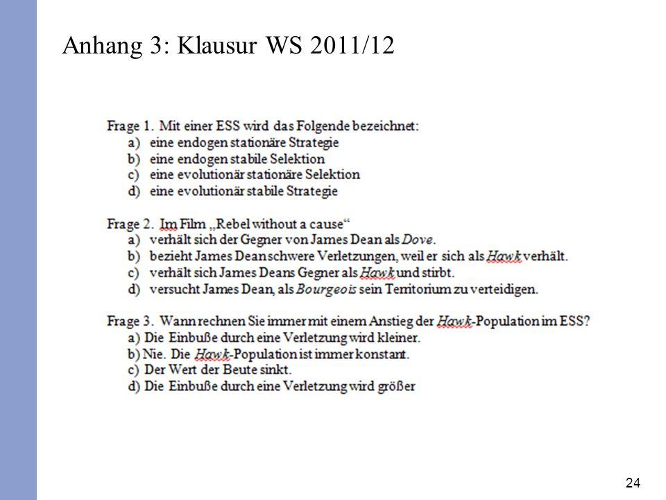 Anhang 3: Klausur WS 2011/12