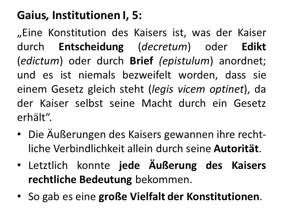 Gaius, Institutionen I, 5: