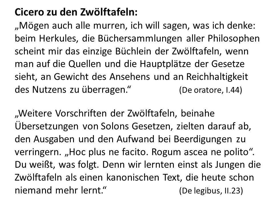 Cicero zu den Zwölftafeln: