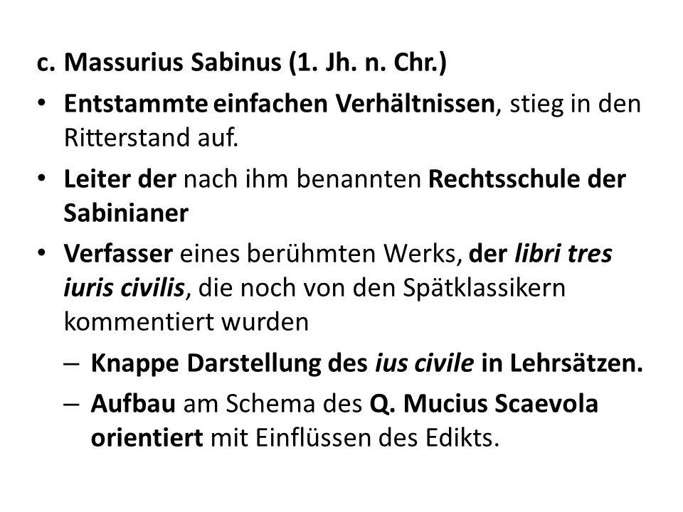 Massurius Sabinus (1. Jh. n. Chr.)