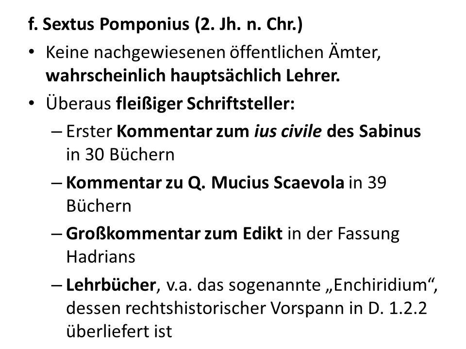 f. Sextus Pomponius (2. Jh. n. Chr.)