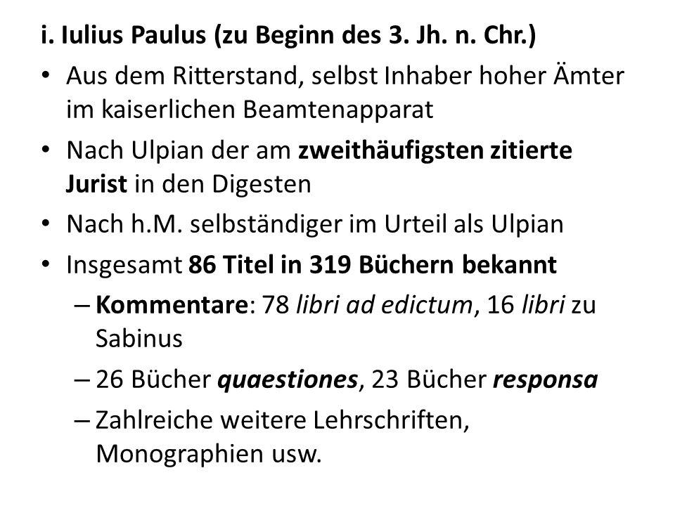 i. Iulius Paulus (zu Beginn des 3. Jh. n. Chr.)