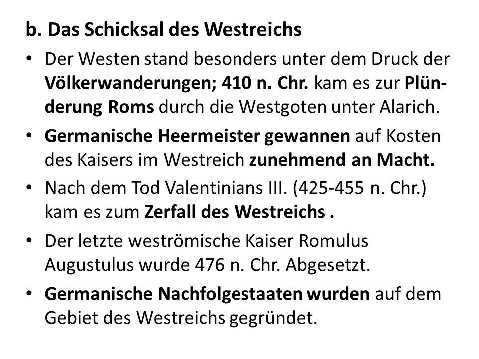 b. Das Schicksal des Westreichs