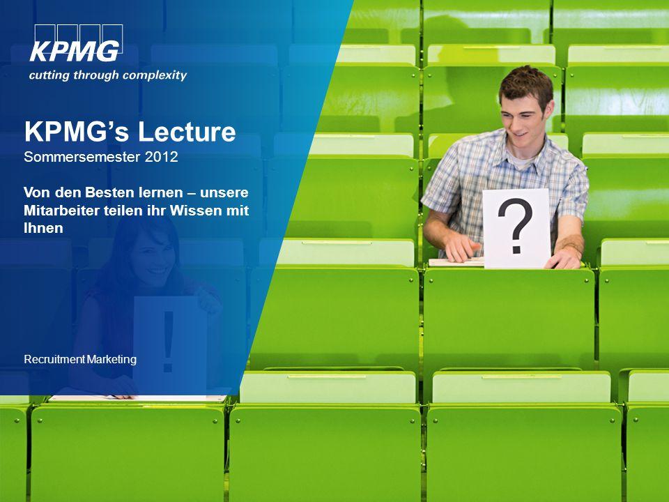 KPMG's Lecture Der Hintergrund