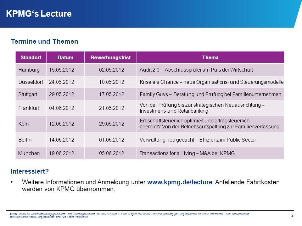 Recruitment Marketing KPMG AG Wirtschaftsprüfungsgesellschaft