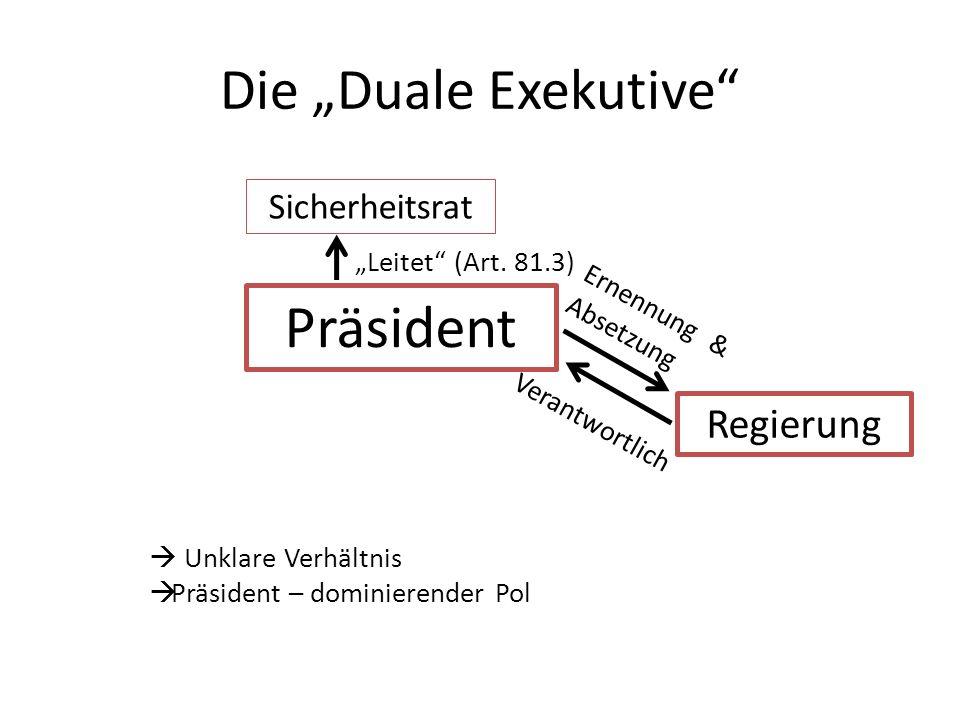"""Präsident Die """"Duale Exekutive Regierung Sicherheitsrat"""