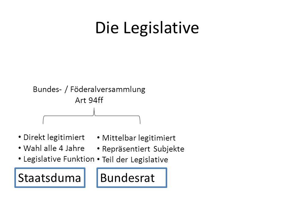 Bundes- / Föderalversammlung