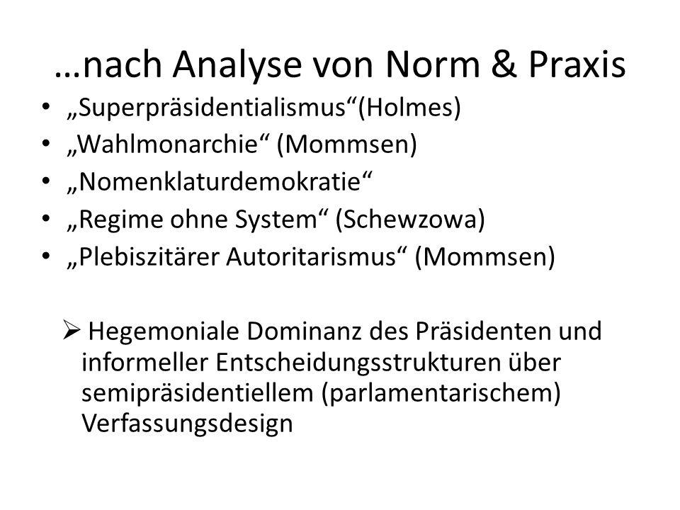 …nach Analyse von Norm & Praxis