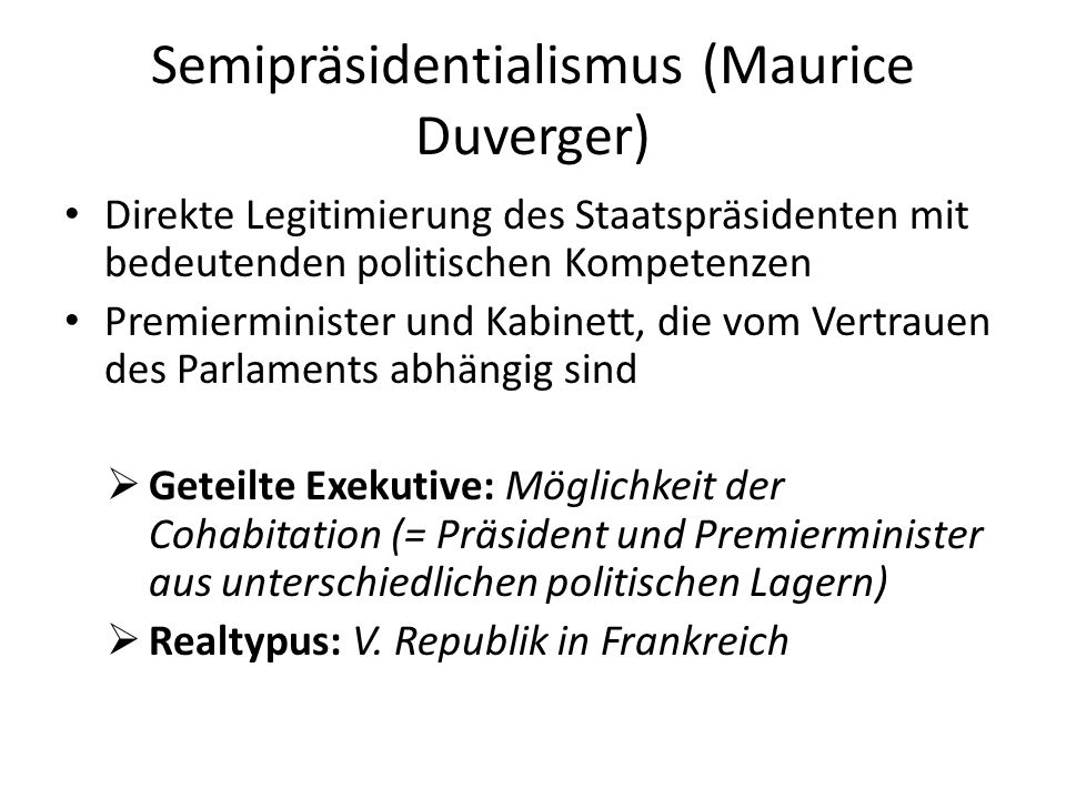 Semipräsidentialismus (Maurice Duverger)