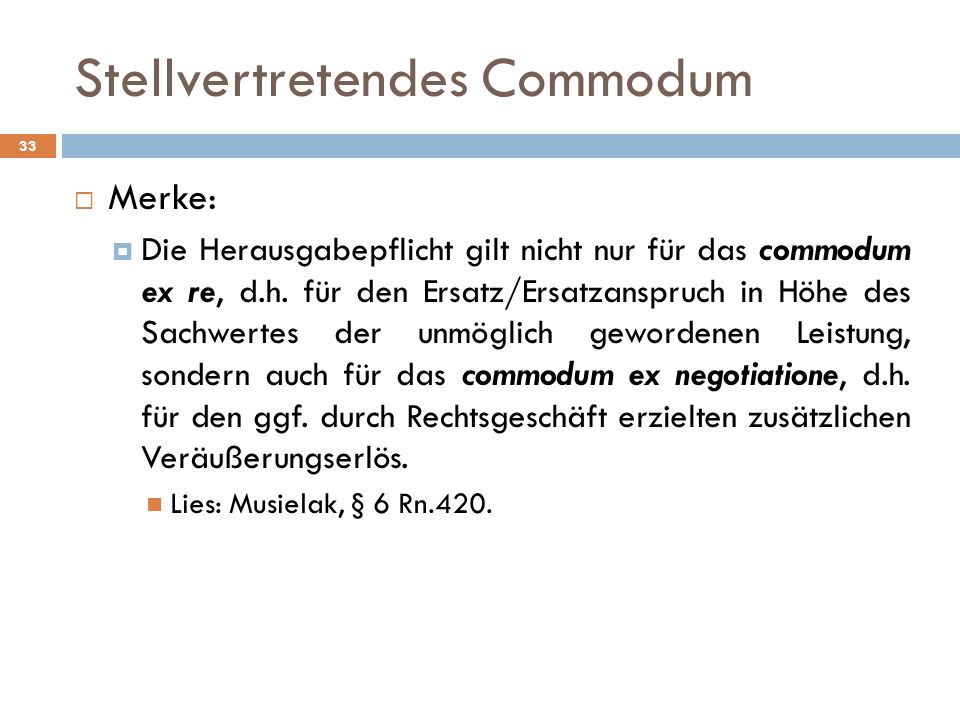 Stellvertretendes Commodum