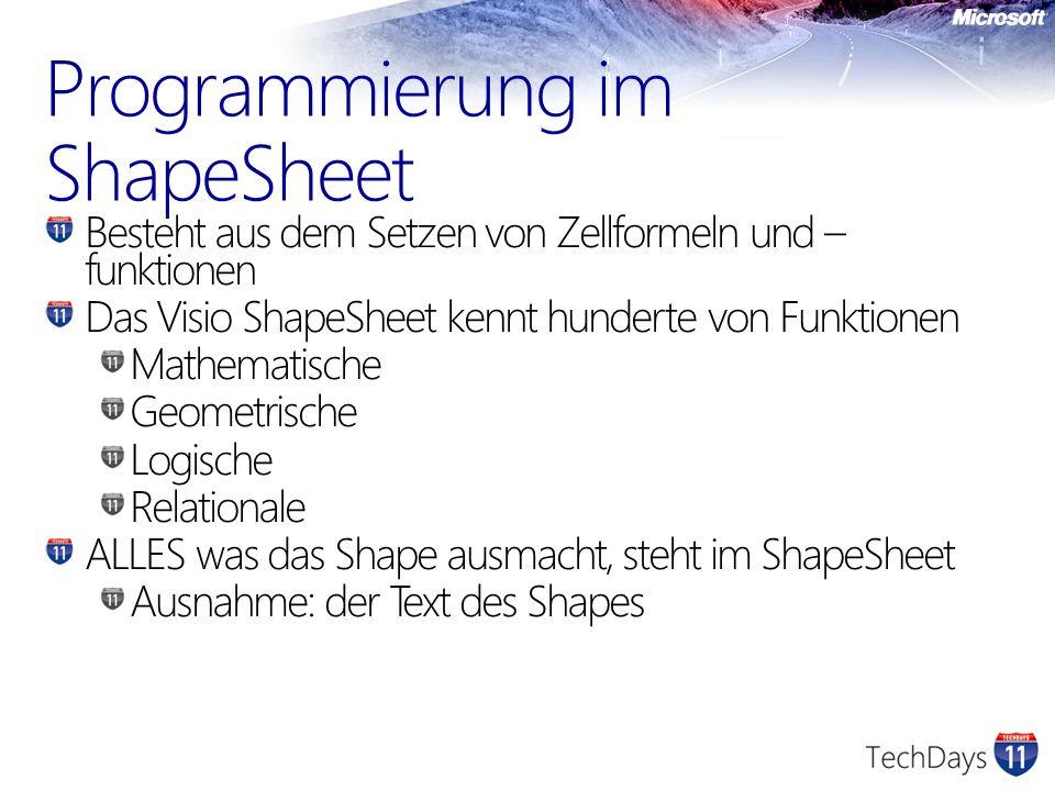 Programmierung im ShapeSheet