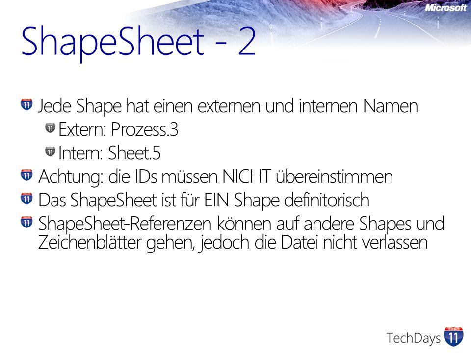 ShapeSheet - 2 Jede Shape hat einen externen und internen Namen