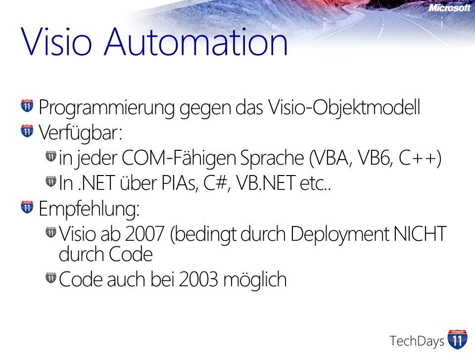 Visio Automation Programmierung gegen das Visio-Objektmodell