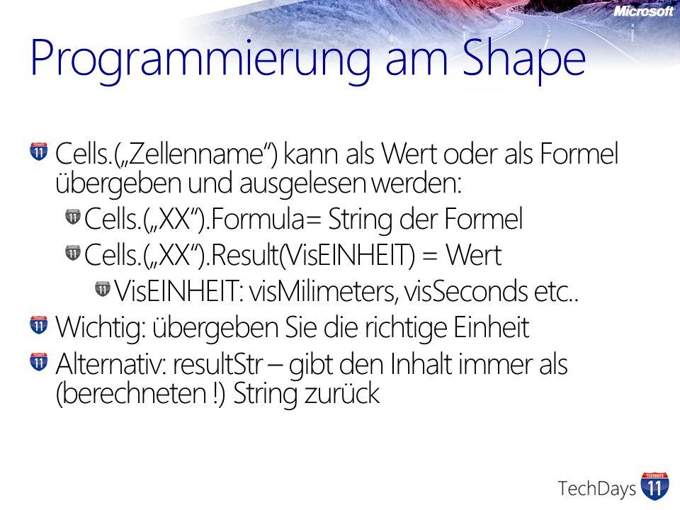 Programmierung am Shape