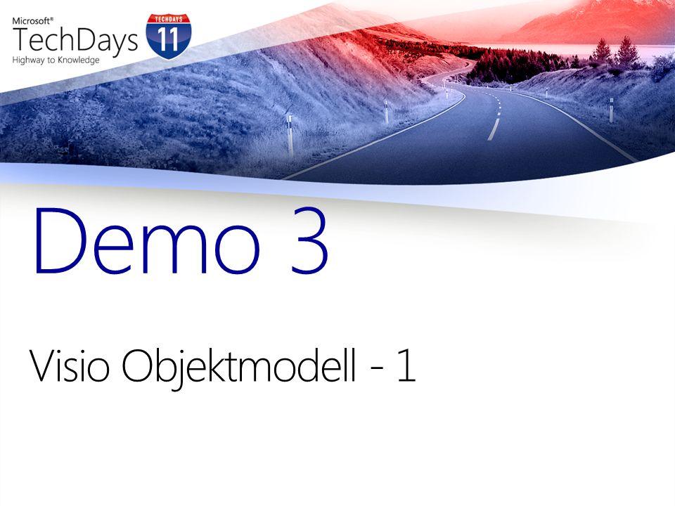Demo 3 Visio Objektmodell - 1