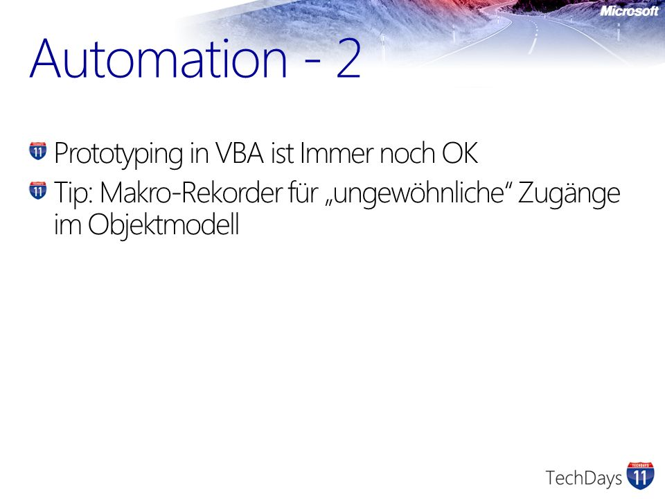 Automation - 2 Prototyping in VBA ist Immer noch OK