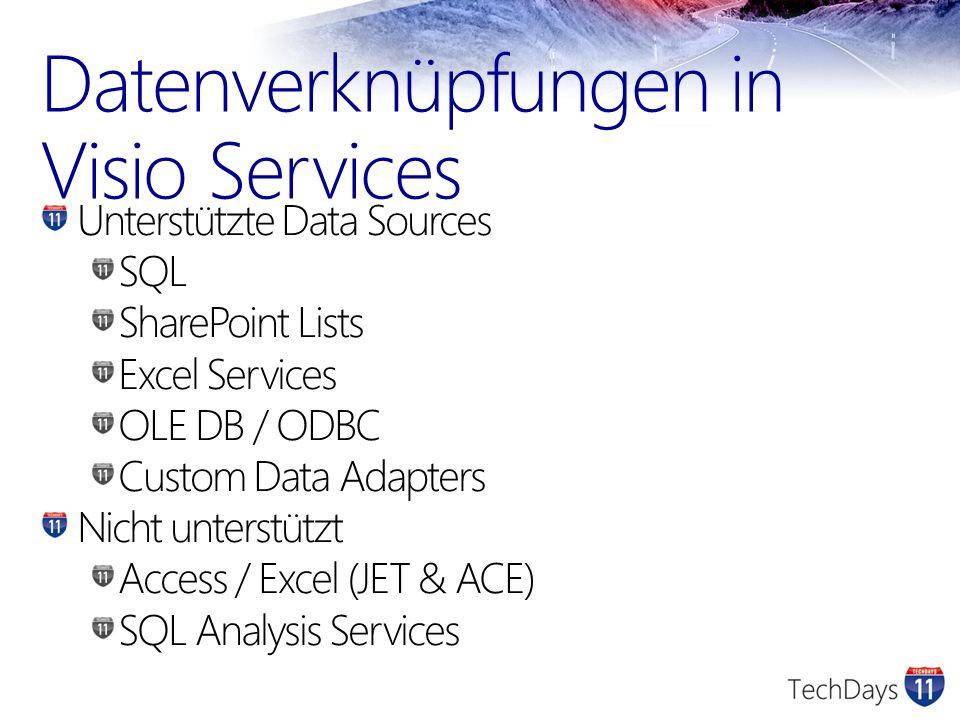 Datenverknüpfungen in Visio Services