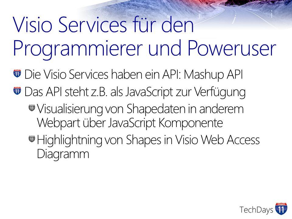 Visio Services für den Programmierer und Poweruser
