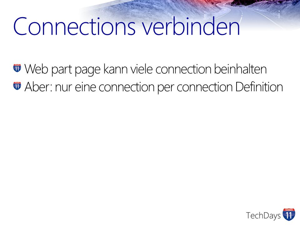 Connections verbinden