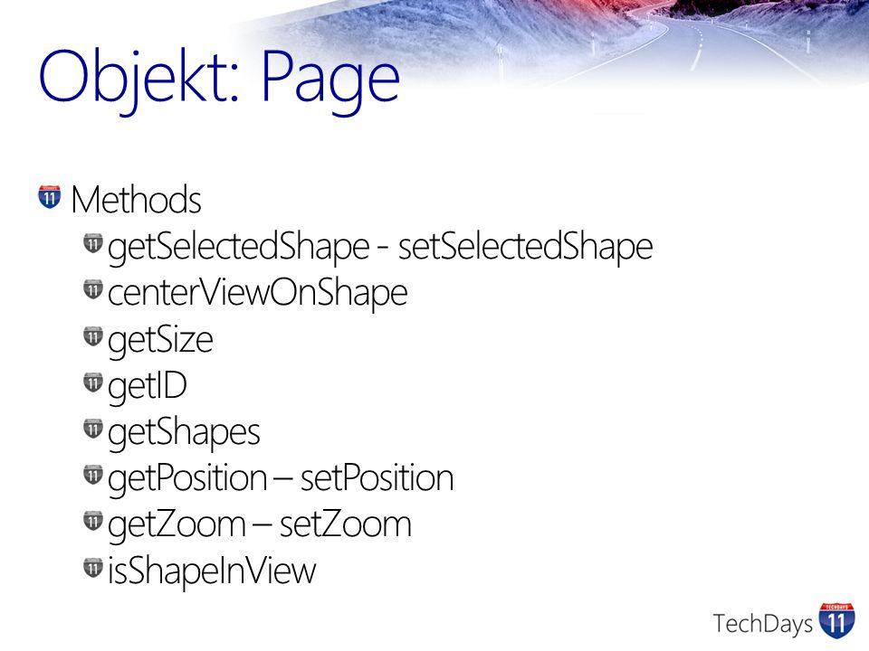 Objekt: Page Methods getSelectedShape - setSelectedShape