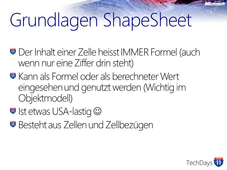 Grundlagen ShapeSheet