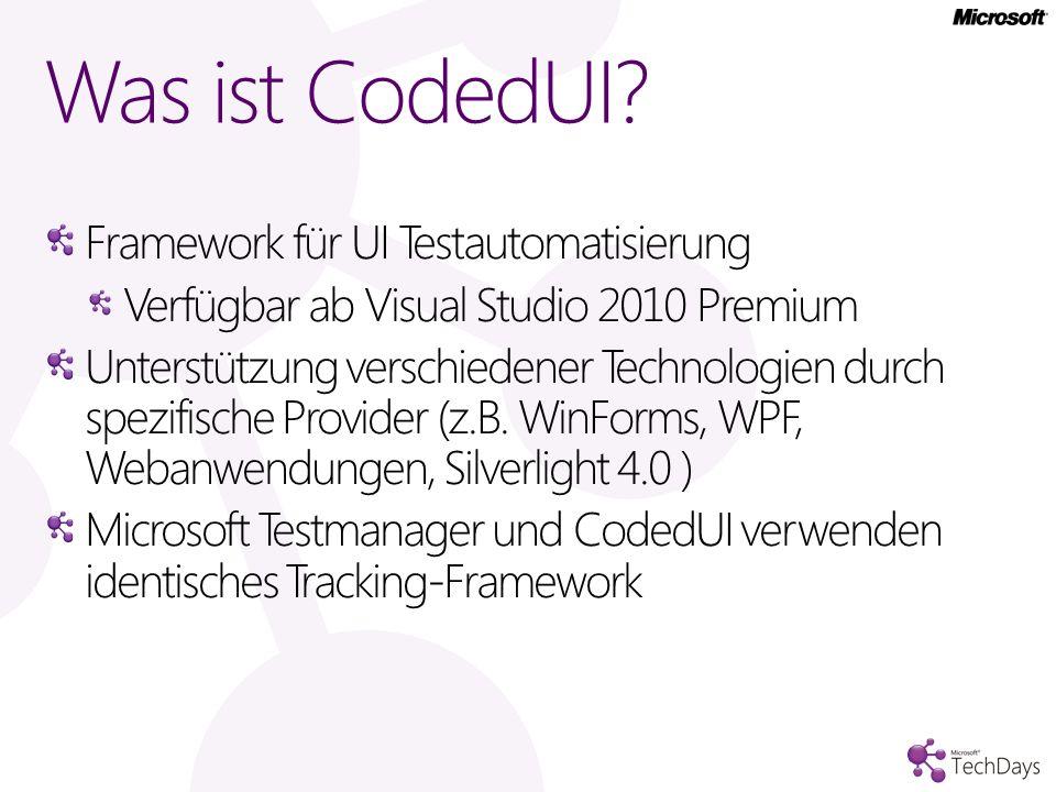 Was ist CodedUI Framework für UI Testautomatisierung