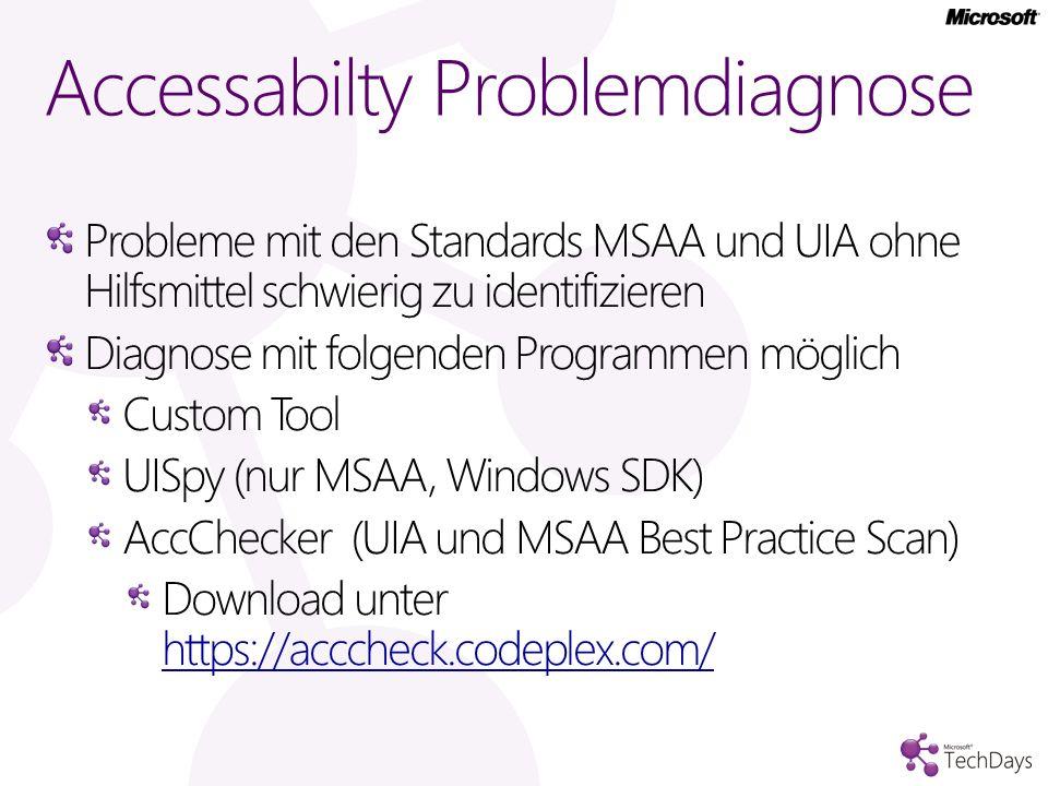 Accessabilty Problemdiagnose