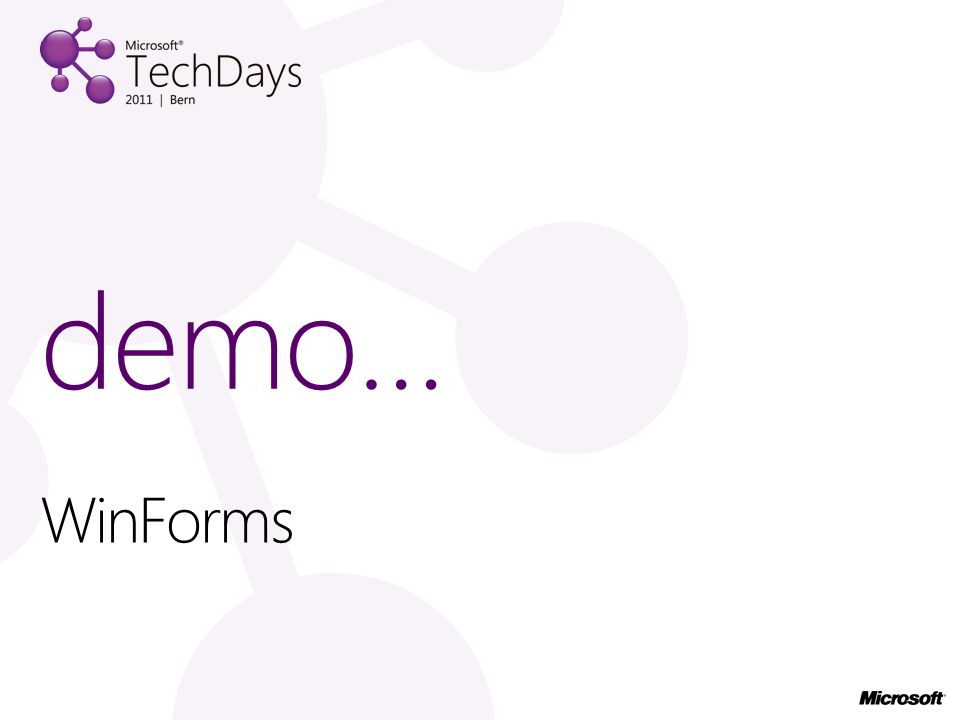 demo… WinForms