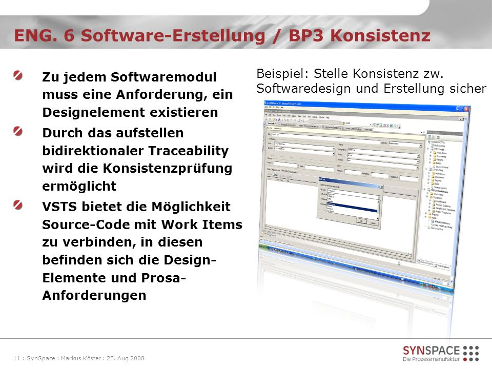 ENG. 6 Software-Erstellung / BP3 Konsistenz