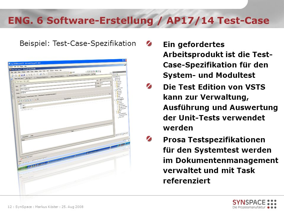 ENG. 6 Software-Erstellung / AP17/14 Test-Case