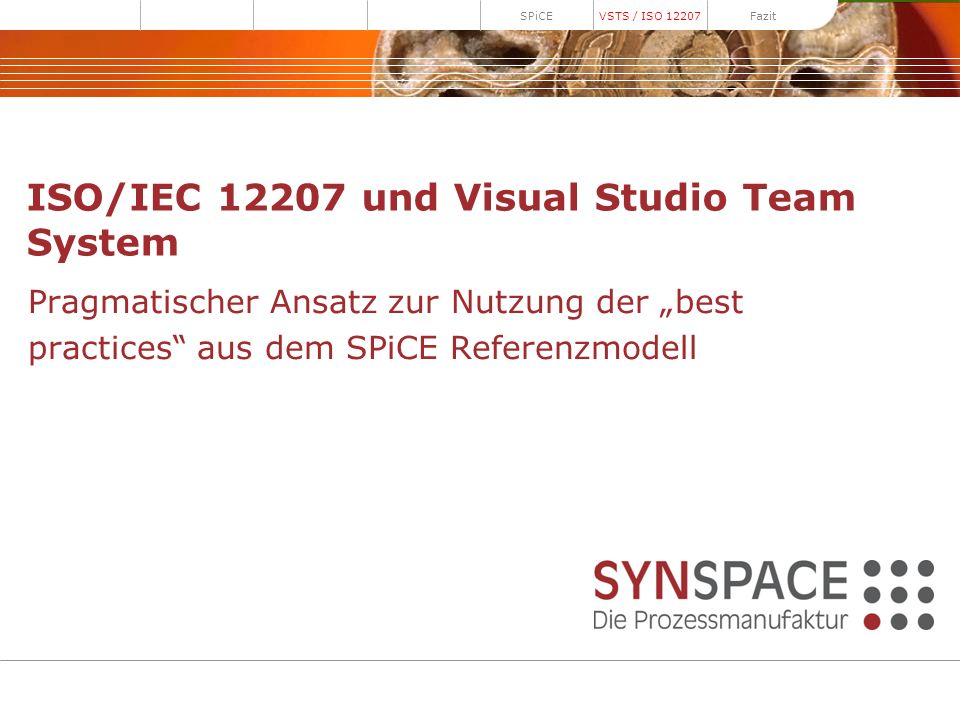 ISO/IEC 12207 und Visual Studio Team System