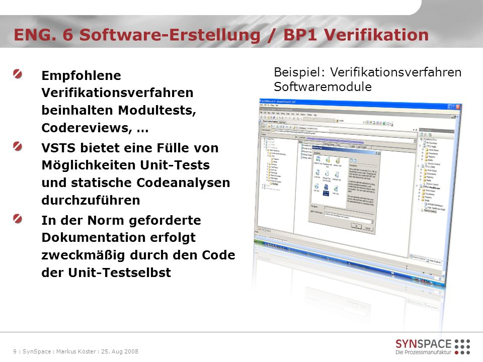 ENG. 6 Software-Erstellung / BP1 Verifikation