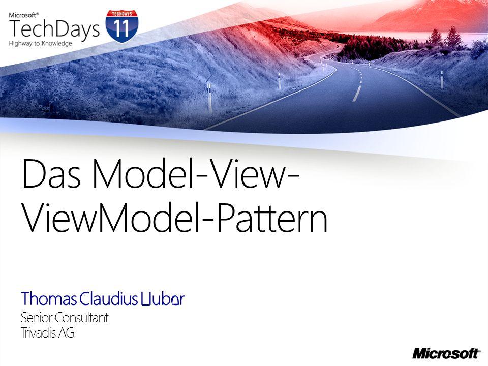 Das Model-View-ViewModel-Pattern