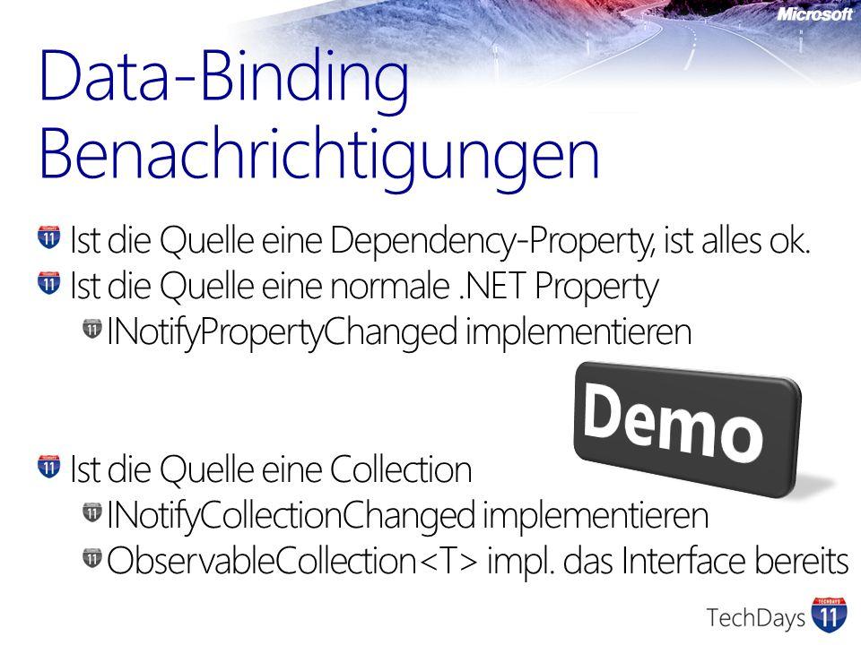 Data-Binding Benachrichtigungen
