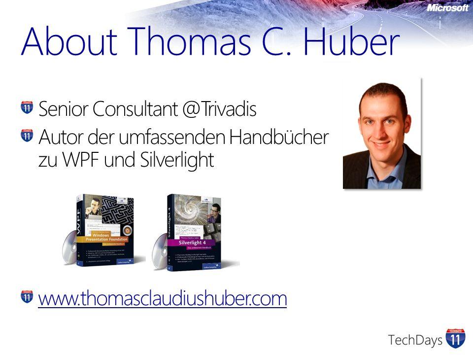 About Thomas C. Huber Senior Consultant @Trivadis