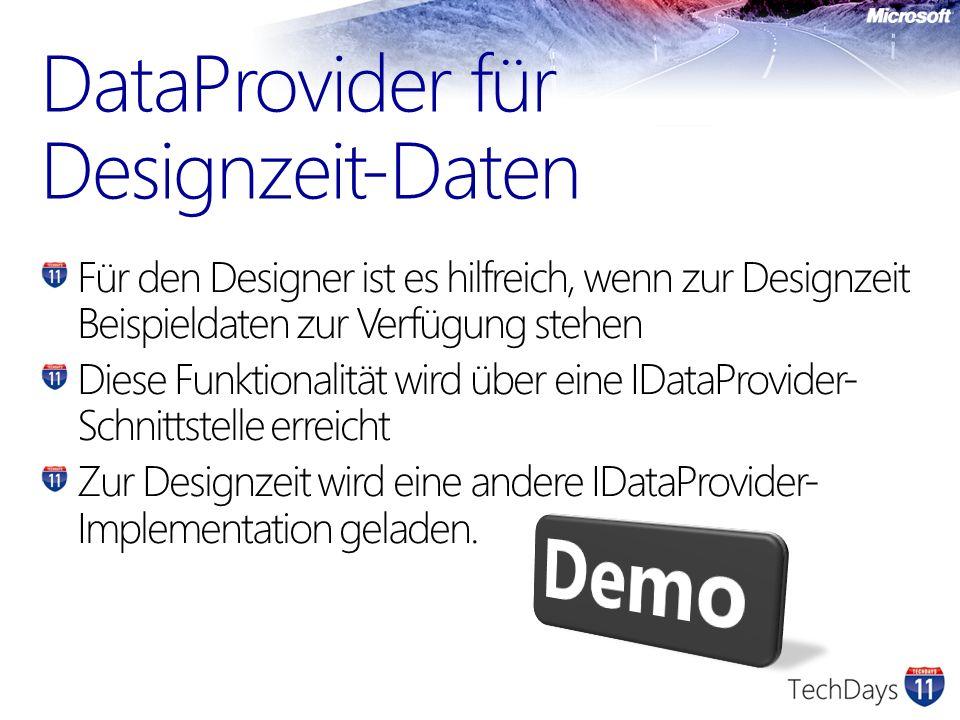 DataProvider für Designzeit-Daten