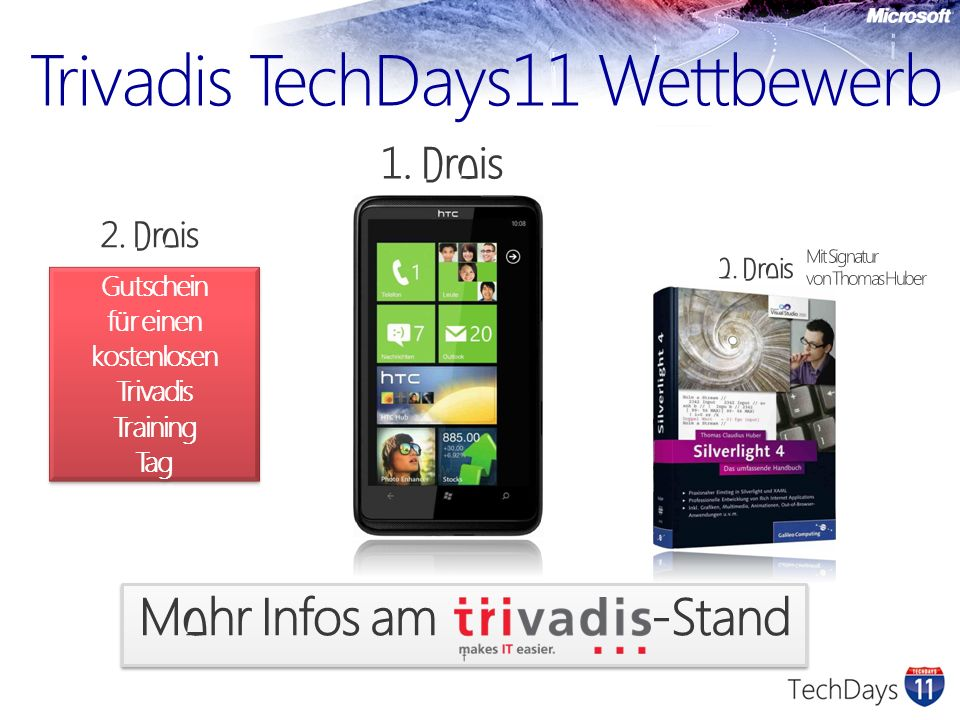 Trivadis TechDays11 Wettbewerb