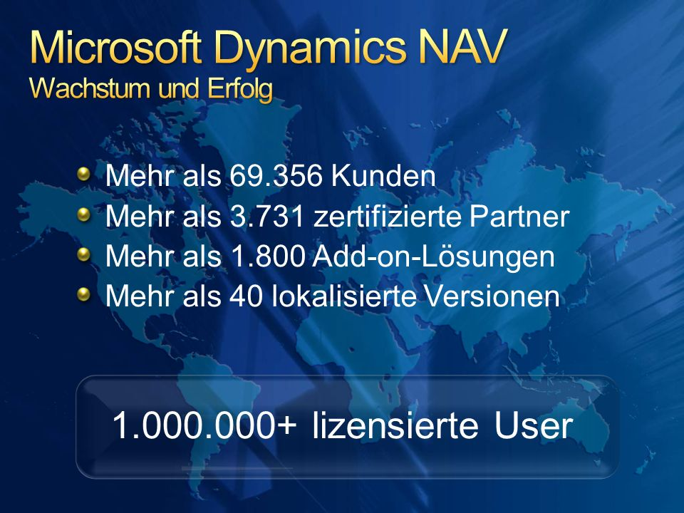 Microsoft Dynamics NAV Wachstum und Erfolg