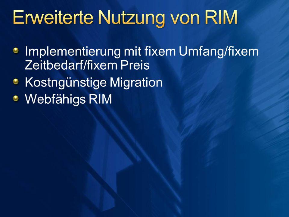 Erweiterte Nutzung von RIM